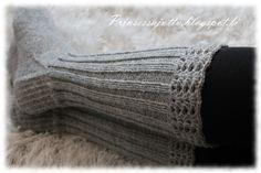 Prinsessajuttu: Villasukat ja Silverjunglen vaatteita Stocking Tights, Knee High Socks, Boot Cuffs, Knitting Socks, Crafts To Do, One Color, Leg Warmers, Mittens, Crochet Projects