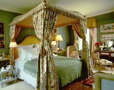 A lovely guest bedroom in New Jersey country house, Howard Slatkin.