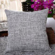 Fashion 8 color Solid Pillowcase Simple Plain Decorative Cushion Cover Home Decoration Products Sofa Car Chair Pillow Case