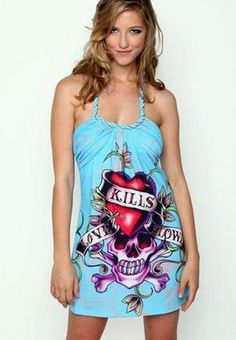 "Ed Hardy ""Wild and Love"" Dresses"