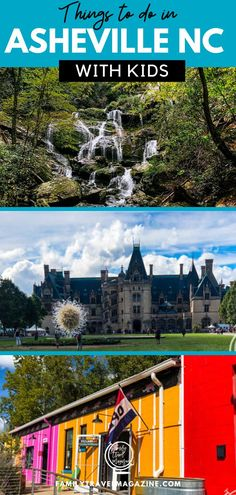 Things to do with kids in Asheville North Carolina, including hiking, indoor activities, the River Arts District, and the Biltmore Estate. Asheville North Carolina, North Carolina Mountains, Asheville Nc, Travel Couple, Family Travel, Biltmore Estate, Best Places To Travel, Places To Visit