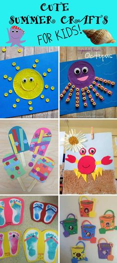 Cute Summer Crafts for Kids