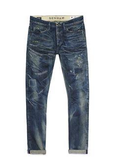 Product afbeelding razor slim fit 675 euro's Denim Pants, Blue Jeans, Blue Denim, White Jeans, Denham Jeans, Mood Indigo, Men's Collection, Menswear, Slim