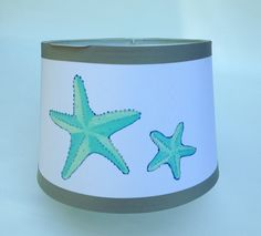 Lampshade with Starfish design by BelleMaisonMarket on Etsy
