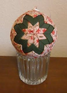 Quilted Ball Ornament Tutorial