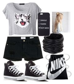Shopping For School Already by lolblingqueen on Polyvore featuring polyvore moda style Frame Denim Converse NIKE Saachi fashion clothing