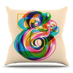 East Urban Home Champersands by Roberlan Throw Pillow
