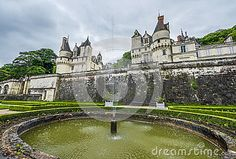 View on Usse castle and the park. Loire valley, France