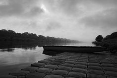 Neue Donau by Sanjin Jukic has reached Popular on Bridges, Art Photography, Photographs, Sidewalk, River, Popular, Black And White, Artist, Outdoor