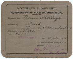 Friese Nummerbewijzen, kentekens voor auto's en motoren 1906-1951
