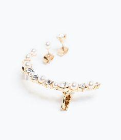 PEARL AND RHINESTONE EARRINGS-Jewellery-Accessories-WOMAN | ZARA United States