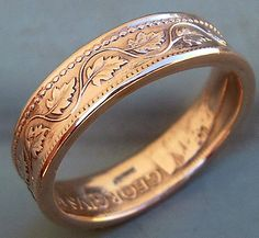 Men's ring made from Canadian coin.  I love the copper color.  Too bad American coins larger than the penny aren't copper.