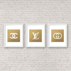 Chanel Louis Vuitton Gucci Set of three gold by SashkaMashka