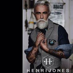 @henri jones vest: Jones F/W 2016 by Enrico Posla ph: Caterina Gualtieri Styling: Daniela Bignami MUA & grooming:Chiara Monga Filippo Baeli Ivano Tella #gentleman #beardmodel #modelbear #alessandromanfredini #beardlife #style #tattoo #oldschooltattoo...
