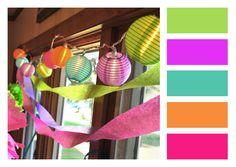 Pretty Party Lanterns. #color #swatch #colorbar