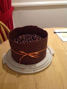Chocolate Bubble Wrap Cake. Chocolate fudge cake wrapped ...