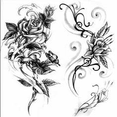 Wzór tatuażu Kwiat - Monika TATUAŻE