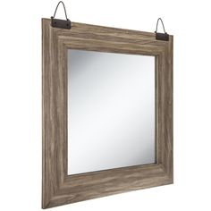 Get Reclaimed Driftwood Beveled Wall Mirror Online Or Find