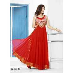 Fabboom Latest Red Floor Length #Gown #onlineshopping http://goo.gl/nL6mds