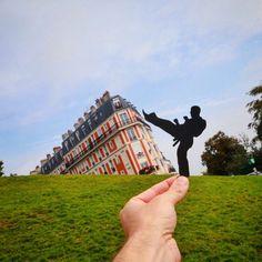 Paperboyo+:+il+détourne+les+monuments+célèbres+à+l'aide+de+bouts+de+papier+découpés