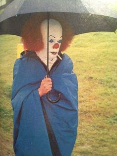 Tim Curry taking a break during Stephen Kings IT filming (1990). It is a 1990 supernatural horror miniseries based on Stephen Kings novel of the same name. The story revolves around an inter-dimensional predatory life-form which has the ability to transform itself into its preys worst fears allowing it to exploit the phobias of its victims. It mostly takes the form of a sadistic wisecracking clown called Pennywise the Dancing Clown. The protagonists are The Losers Club a group of outcast ...