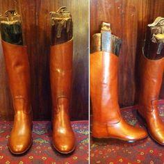 Tan naked Italian cowhide handmade riding and fashion boots #barismil #saltoro #handmade #custommade #bespoke #etsy #etsyseller #instagood #women #boots #riding #leather #classic