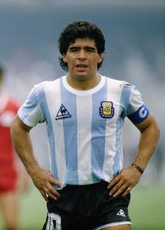 1986 Argentina Home (Le Coq) Maradona Football Icon, Football Design, World Football, Soccer World, Football Soccer, Soccer Socks, Football Images, Football Pictures, Sports Pictures