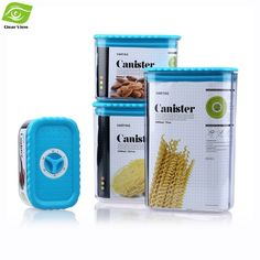 pcs canister set sealed plastic kitchen canisters rotary button stainless steel tea coffee sugar utensil cake tin kitchen ebay