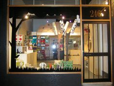 Melbourne design store In The Woods #retail #Australia #Windows Tips to create store windows: https://www.sishop.com.au/blog/retail-christmas-tips-attract-customer-with-effective-window-displays/