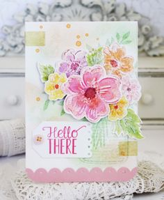 SAF 2016: Floral Impressionism With Melissa Phillips - Hello There Card by Melissa Phillips (July 2016)