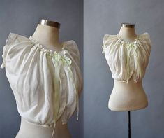Victorian Corset Cover / White Cotton Crop Top / Corset Cover / Antique Blouse / Corset Cover XS by milkandice on Etsy https://www.etsy.com/listing/547284259/victorian-corset-cover-white-cotton-crop