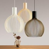 Modern wrought iron pendant lights bird cage dining room restaurant table lamps brief pendant lamps lighting E27 AC90-260V