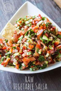 nice Raw Vegetable Salsa