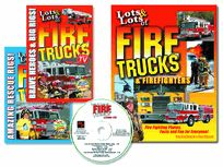 LOTS and LOTS of FIRE TRUCKS 2 DVD SET and BOOK