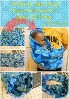 Sunday Sew Along - Fleece Remnant to Baby Doll Sling | IndiPatterns - free sewing pattern and tutorial - diy baby sling - cheap sewing project - easy beginner sewing project