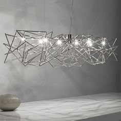 """Etoile Large Suspension Light $4350.00 made in Italy  51.2"""" wide 39.4"""" overall height found on Ylighting.com"""