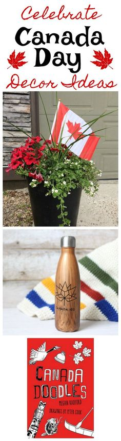 Ideas for Canada Day decor - flower planters, decals made with Cricut Explore, and a great kids coloring book with Canadian icons. Coloring For Kids, Coloring Books, Party Finger Foods, Canada Day, Crafts To Make And Sell, Flower Planters, Cricut Explore, E Design, Decorating Tips