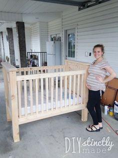 How to build a DIY Crib | View the blog post at www.diystinctlymade.com #diy #crib #nursery
