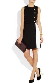 GIULIETTA  Wool-blend and pleated crepe dress
