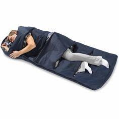 Sleeping bag for hot flashes... I need a blanket like this!