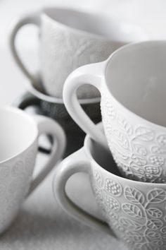 Cups Ceramics by Ulrika Ahlsten Photo by Jeanette Hägglund