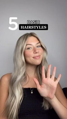 Basic Hairstyles, Easy Hairstyles For Long Hair, Summer Hairstyles, Girl Hairstyles, School Hairstyles, Hairdos, Medium Hair Styles, Curly Hair Styles, Hair Upstyles