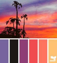 sunset brights via @designseeds