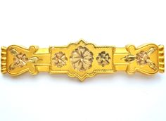 Victorian Gold Filled Bar Pin Brooch F.M.CO.