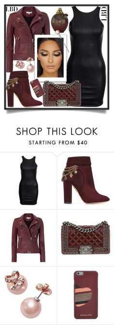 """LBD"" by teto000 ❤ liked on Polyvore featuring Aquazzura, IRO, Chanel, Kate Spade and MICHAEL Michael Kors"
