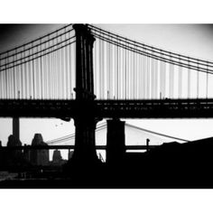 USA New York State New York City Manhattan Bridge with Brooklyn Bridge in background Canvas Art - (18 x 24)