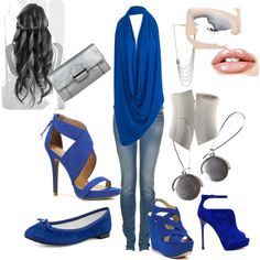 Woman in BLUE, created by Luna Nativa