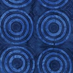 Timeless Tonga Batik Bazaar Bulls Eye Target Blue