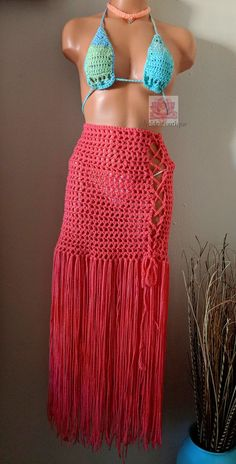 1dc95c2c23 Highwaisted crochet skirt cover up. This is perfect addition. To your  wardrobe. As it can worn with sexy top in the spring or legging and boots  during the ...