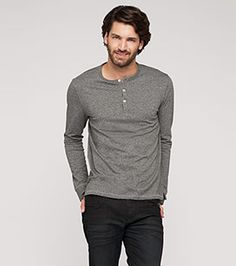 Langarmshirt aus Bio-Baumwolle in der Farbe grau-melange bei C&A